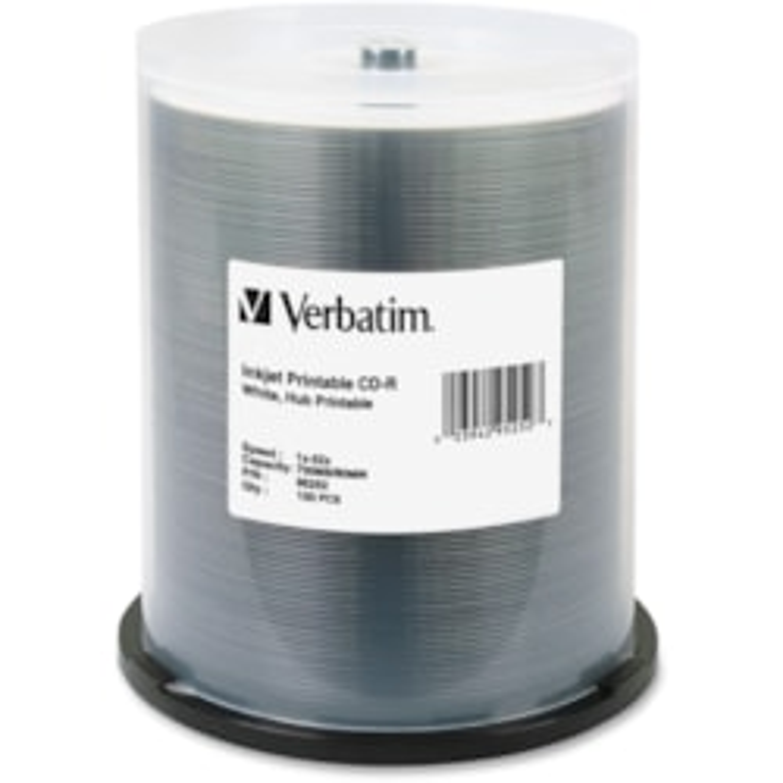 Verbatim 95252 CD Recordable Media - CD-R - 52x - 700 MB - 100 Pack Spindle