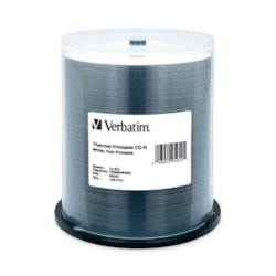 Verbatim 95254 CD Recordable Media - CD-R - 52x - 700 MB - 100 Pack Spindle