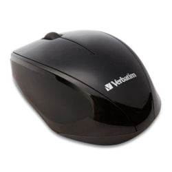 Verbatim Mouse - Radio Frequency - USB 2.0 - Blue Optical - 2 Button(s) - Black - 1 Pack