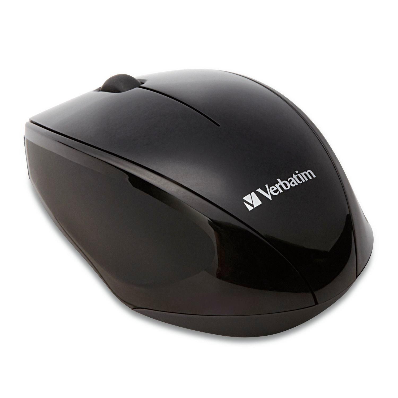 Verbatim Mouse - Blue Optical - Wireless - 2 Button(s) - Black