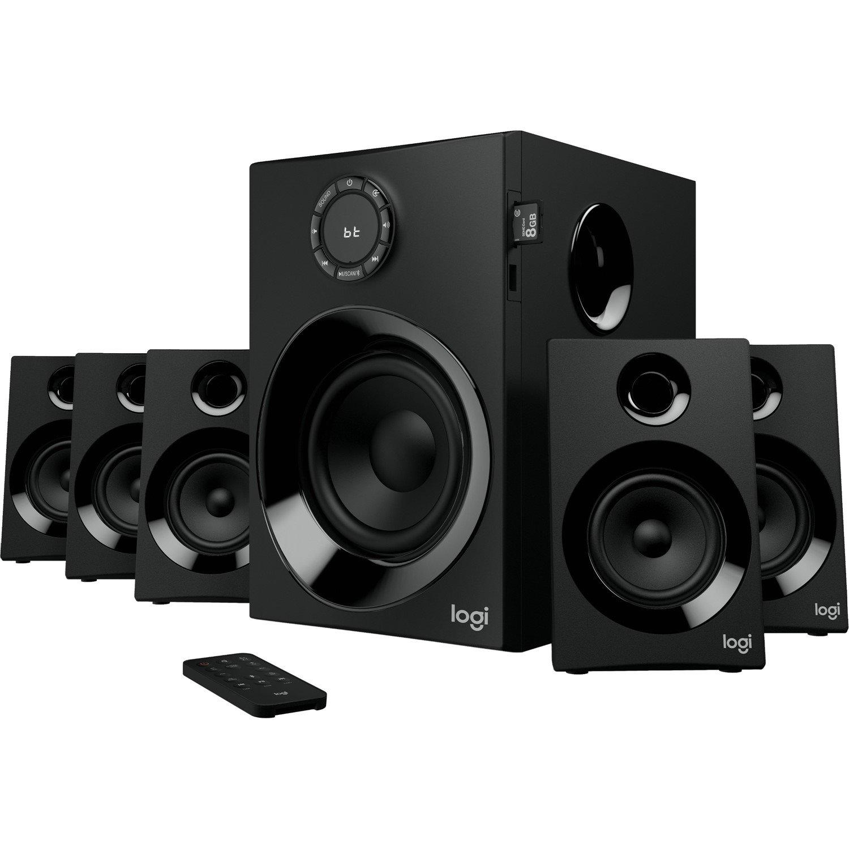 Logitech Z607 5.1 Speaker System - 80 W RMS - Wireless Speaker(s) - Wall Mountable