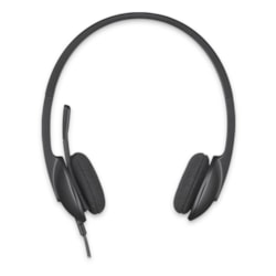 Logitech H340 Wired Over-the-head Stereo Headset - Black