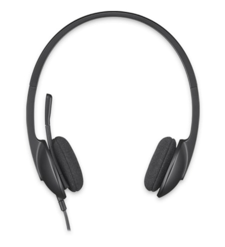 Logitech H340 Wired Stereo Headset - Over-the-head - Semi-open - Black