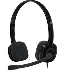 Logitech H151 Wired Stereo Headset - Over-the-head - Supra-aural - Black