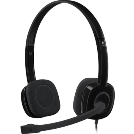 Logitech H151 Wired Over-the-head Stereo Headset - Black