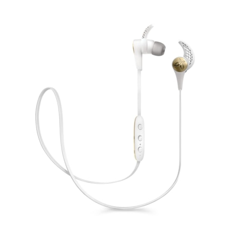 JayBird X3 Wireless Bluetooth 6 mm Stereo Earset - Earbud, Behind-the-neck - In-ear - Sparta White