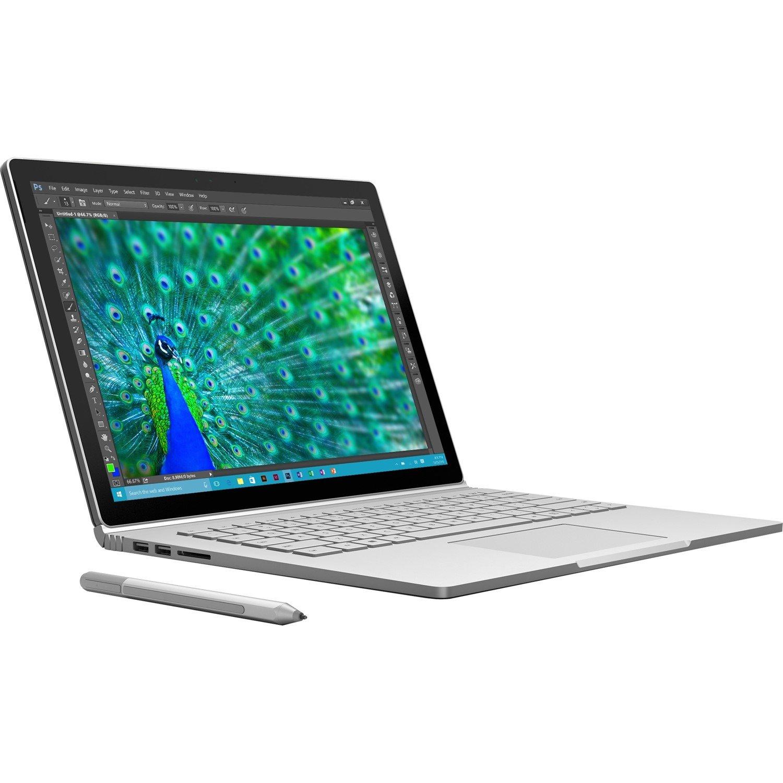 "Microsoft Surface Book 34.3 cm (13.5"") Touchscreen LCD 2 in 1 Notebook - Intel Core i7 (6th Gen) i7-6600U Dual-core (2 Core) 2.60 GHz - 16 GB - 512 GB SSD - Windows 10 Pro 64-bit - 3000 x 2000 - PixelSense - Hybrid"