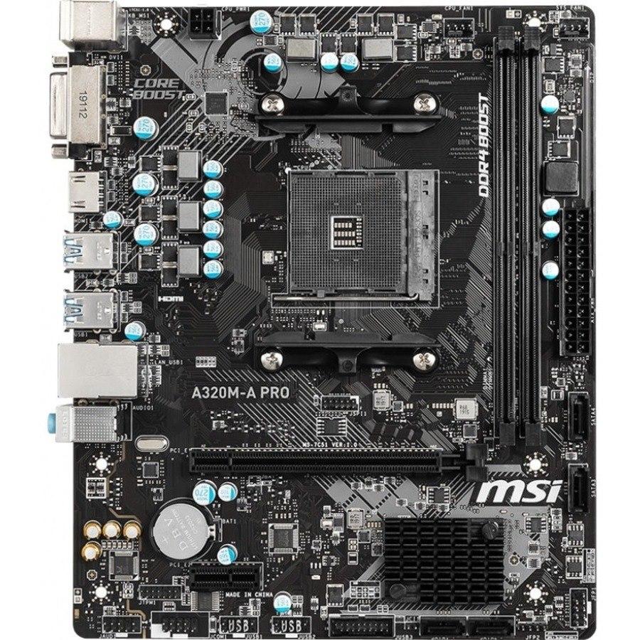 MSI A320M-A PRO Desktop Motherboard - AMD Chipset - Socket AM4