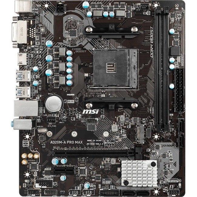 MSI A320M-A PRO MAX Desktop Motherboard - AMD Chipset - Socket AM4