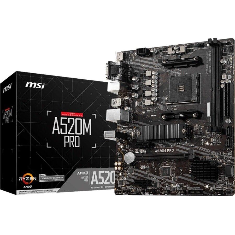 MSI A520M PRO Desktop Motherboard - AMD Chipset - Socket AM4