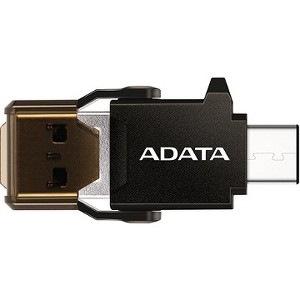 Adata ACMR3PL-OTG-RBK Flash Reader - USB Type C, USB 3.1 Type A - External