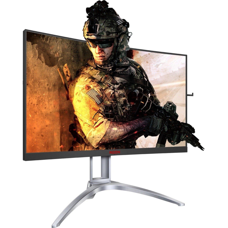 "AOC AGON AG273QCX 68.6 cm (27"") WQHD LCD Monitor - Black, Red"