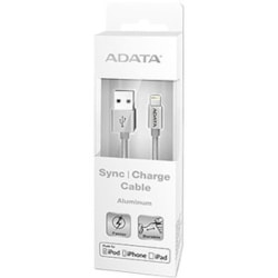 Adata Lightning/USB Data Transfer Cable for iPod, iPad, iPhone - 1 m - Shielding