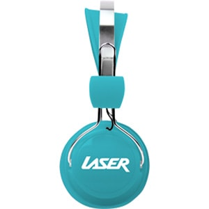 LASER Wired Stereo Headphone - Over-the-head - Ear-cup - Blue