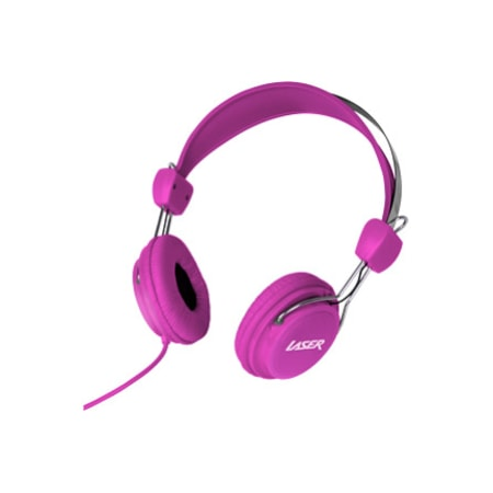 LASER Wired Over-the-head Stereo Headphone - Pink