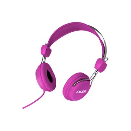 LASER Wired Stereo Headphone - Over-the-head - Ear-cup - Pink