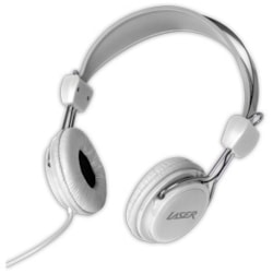 LASER Wired Over-the-head Stereo Headphone - White