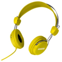 LASER Wired Stereo Headphone - Over-the-head - Ear-cup - Yellow