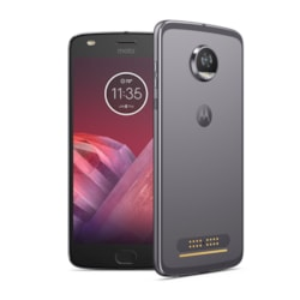 "Motorola Moto Z² Play XT1710-09 64 GB Smartphone - Lunar Gray - 14 cm (5.5"") Super AMOLED Full HD Touchscreen - 4 GB RAM - 4G - 12 Megapixel Rear/5 Megapixel Front - Android 7.1.1 Nougat - SIM-free"