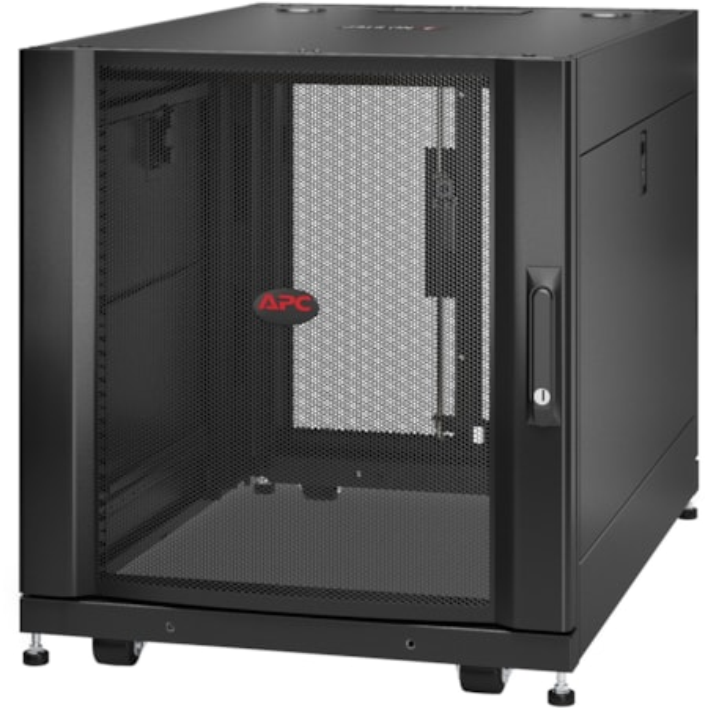 APC by Schneider Electric NetShelter SX 12U Floor Standing Rack Cabinet for Server, Patch Panel, LAN Switch - 482.60 mm Rack Width x 755.65 mm Rack Depth - Black
