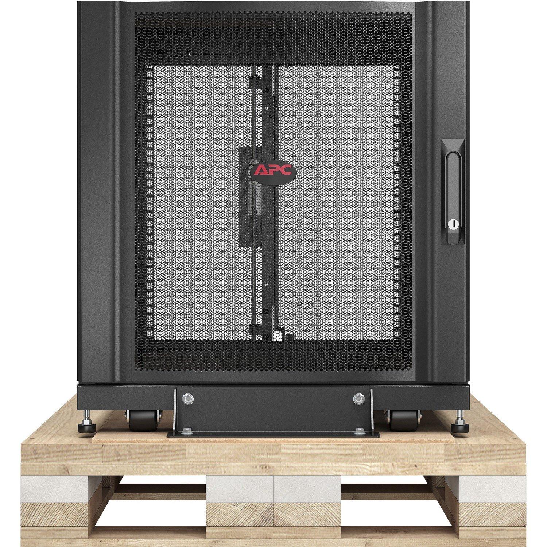 APC by Schneider Electric NetShelter SX 12U Floor Standing Rack Cabinet for Server, LAN Switch, Patch Panel - 482.60 mm Rack Width x 920.75 mm Rack Depth - Black