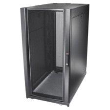 Schneider Electric NetShelter SX 24U High x 482.60 mm Wide Floor Standing Rack Cabinet for Server - Black