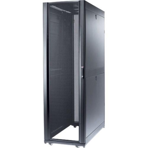 Schneider Electric 42U Floor Standing Rack Cabinet - 482.60 mm Rack Width - Black