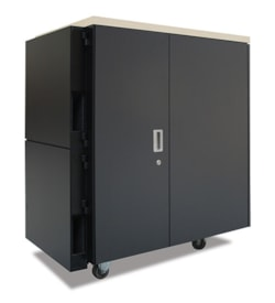 APC by Schneider Electric NetShelter CX 24U High x 482.60 mm Wide Rack Cabinet - Grey