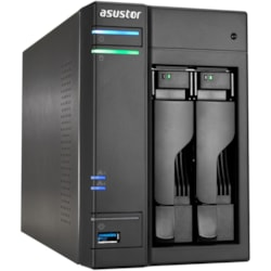 ASUSTOR AS6102T 2 x Total Bays NAS Storage System - Intel Celeron Dual-core (2 Core) 1.60 GHz - 2 GB RAM - DDR3L SDRAM Desktop