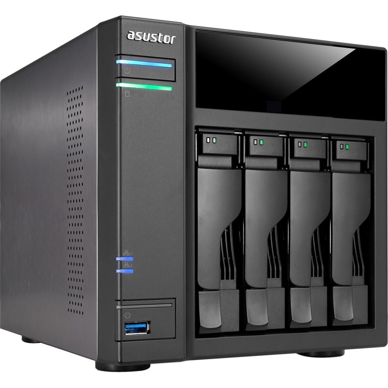 ASUSTOR AS6104T 4 x Total Bays NAS Storage System - Desktop