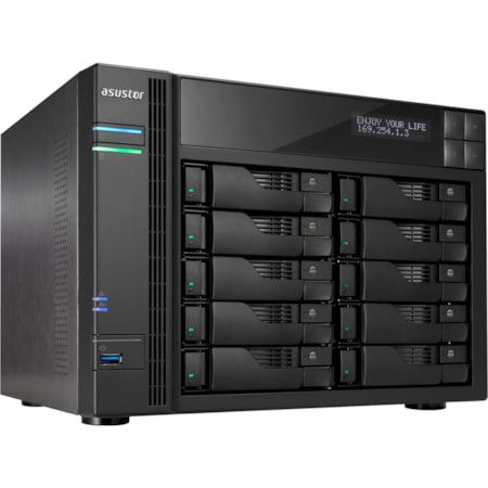 ASUSTOR AS6210T 10 x Total Bays SAN/NAS Storage System - Intel Celeron Quad-core (4 Core) 1.60 GHz - 4 GB RAM - DDR3L SDRAM Desktop