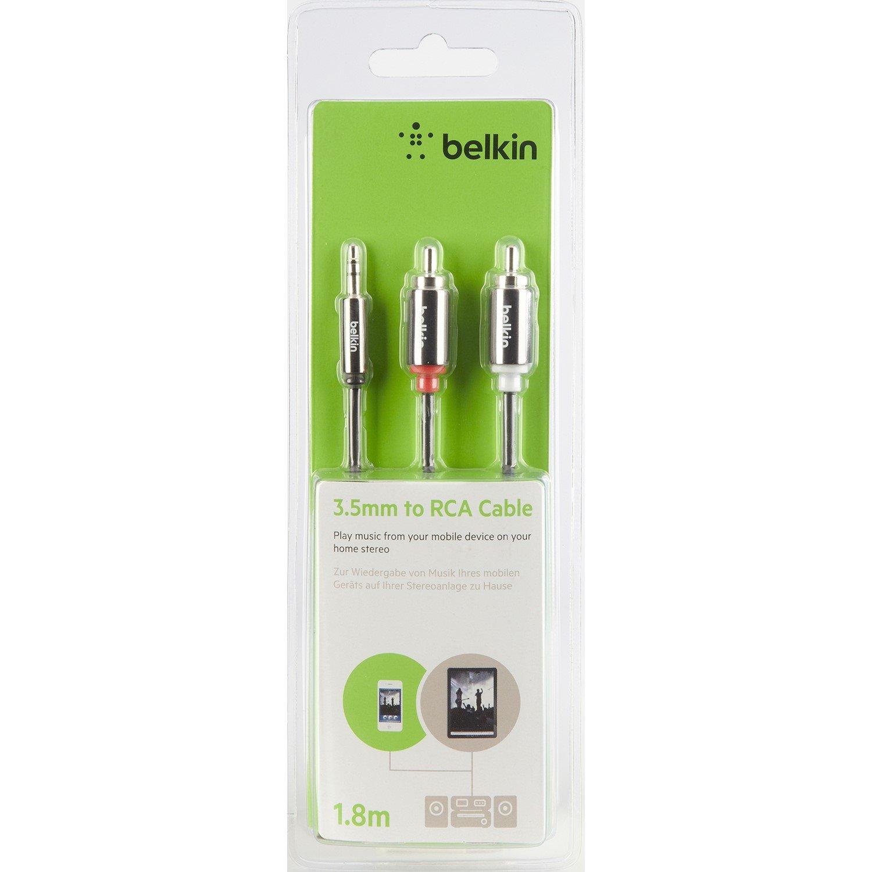 Belkin AV10092BT1.8M 1.80 m Mini-phone/RCA Audio Cable for Audio Device, Speaker