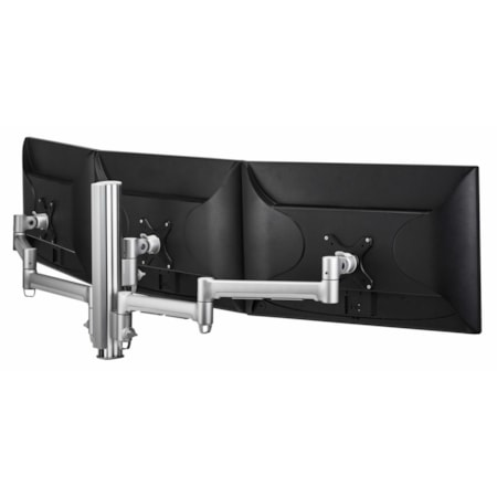 Atdec AWMS-3-13714-F-S Desk Mount for Flat Panel Display, Curved Screen Display, Monitor - Silver