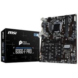 MSI B360-F PRO Desktop Motherboard - Intel Chipset - Socket H4 LGA-1151