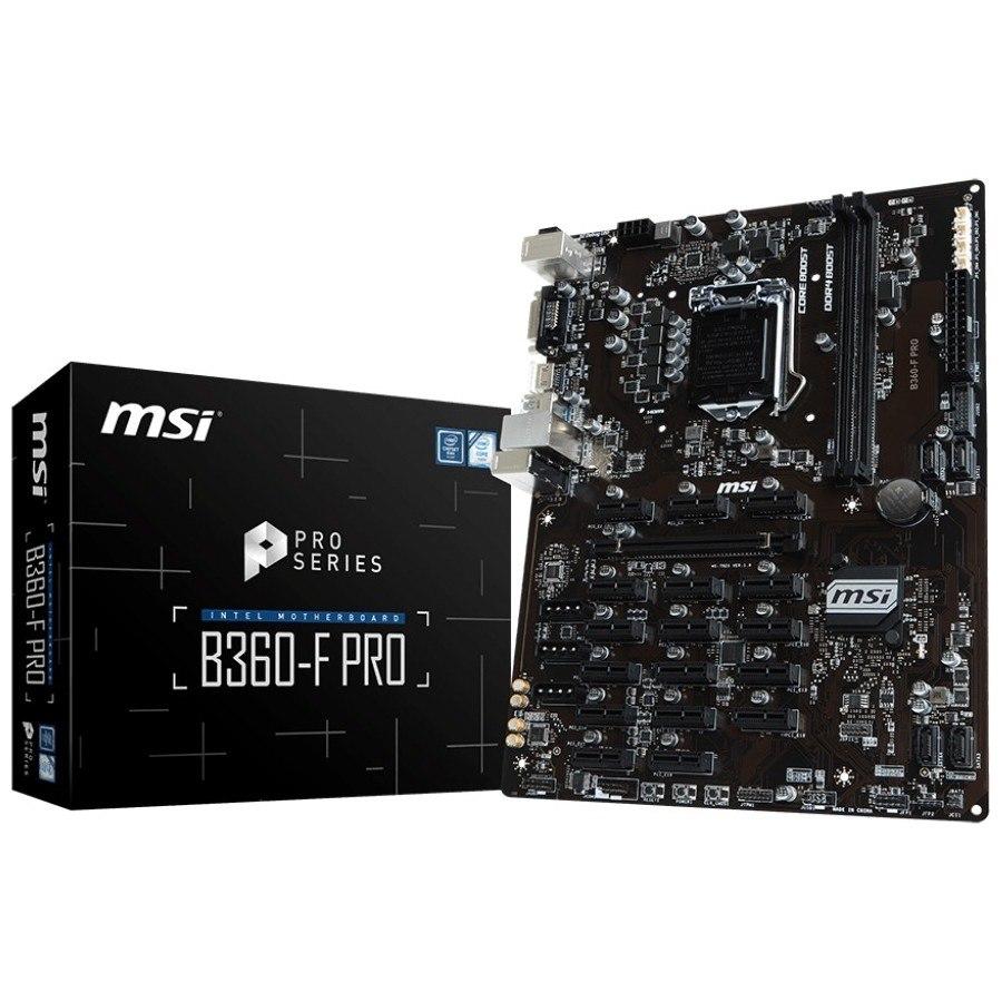 MSI B360-F PRO Desktop Motherboard - Intel Chipset - Socket H4 LGA-1151