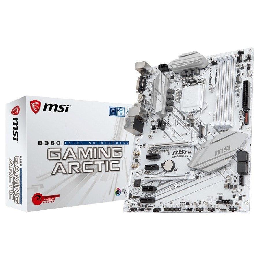 MSI B360 GAMING ARCTIC Desktop Motherboard - Intel Chipset - Socket H4 LGA-1151