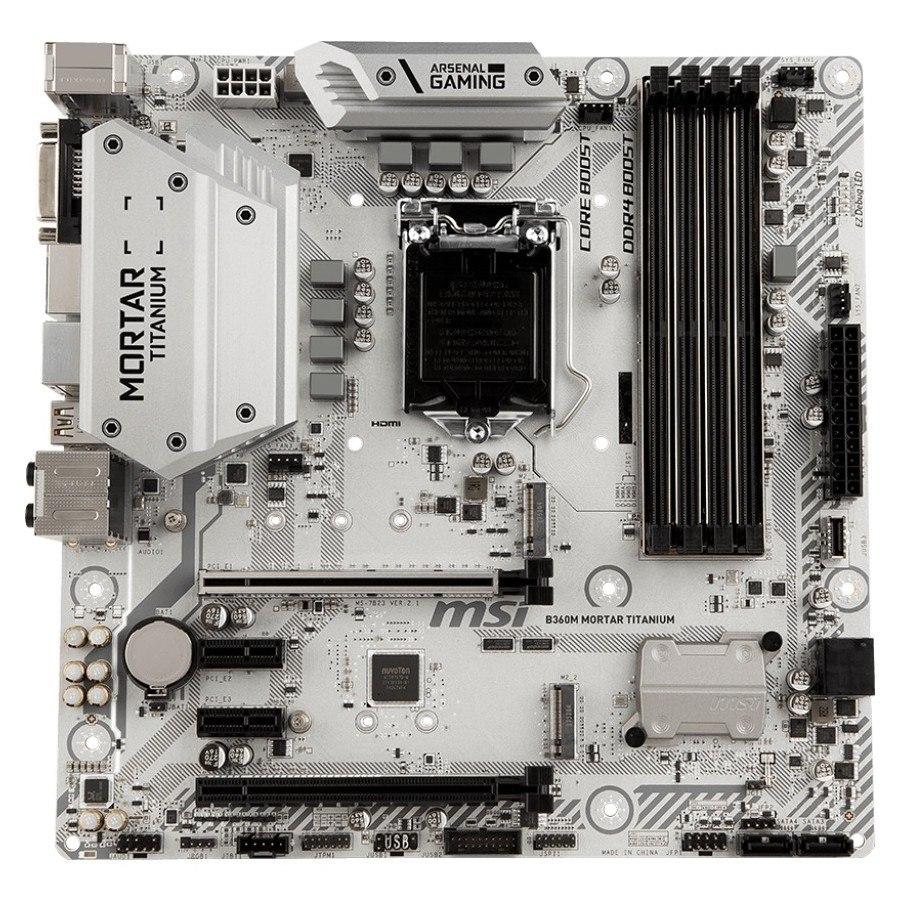 MSI B360M MORTAR TITANIUM Desktop Motherboard - Intel Chipset - Socket H4 LGA-1151