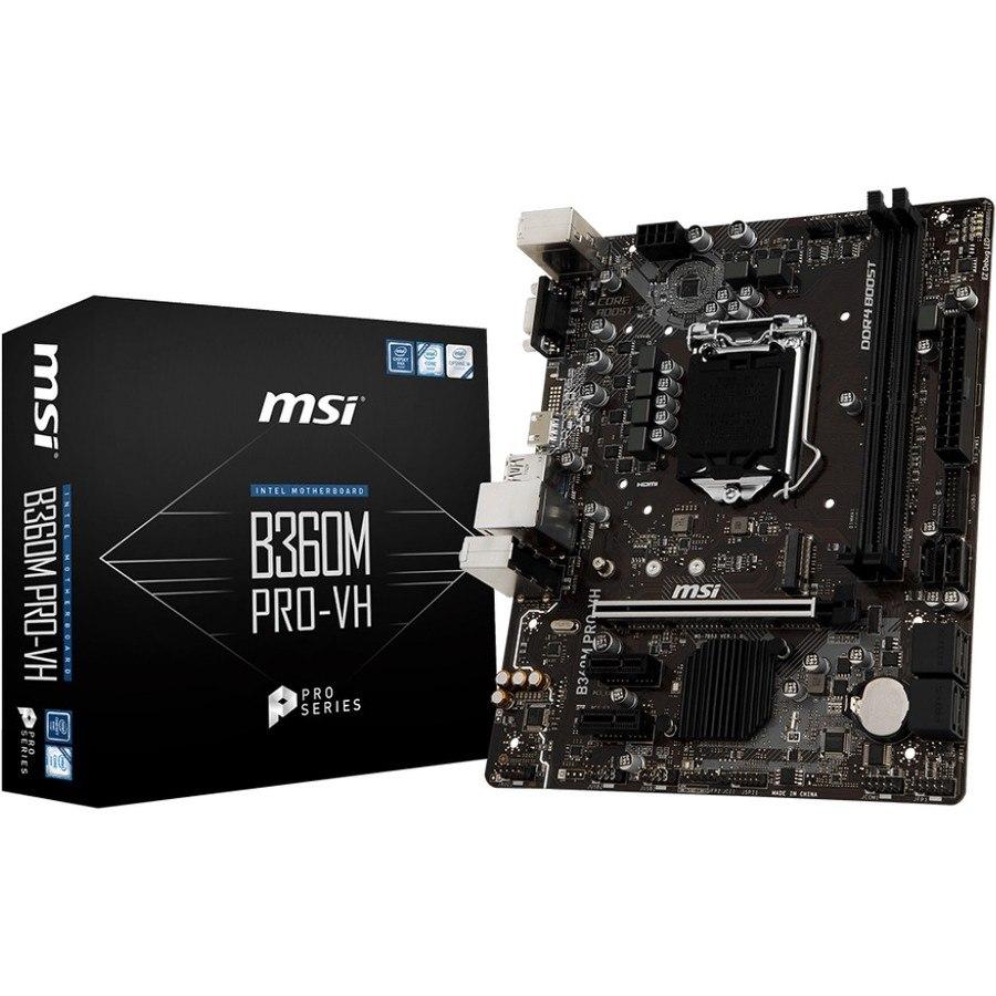 MSI B360M PRO-VH Desktop Motherboard - Intel Chipset - Socket H4 LGA-1151