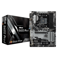 ASRock B450 Pro4 Desktop Motherboard - AMD Chipset - Socket AM4