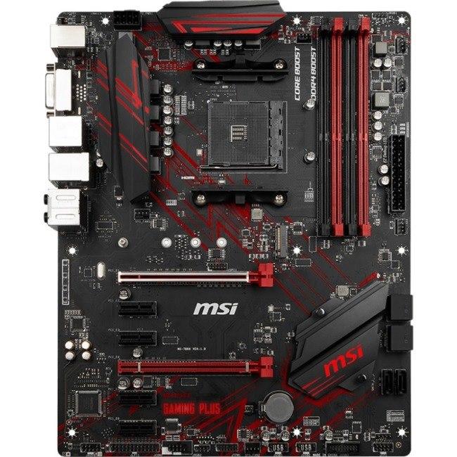 MSI B450 GAMING PLUS Desktop Motherboard - AMD Chipset - Socket AM4