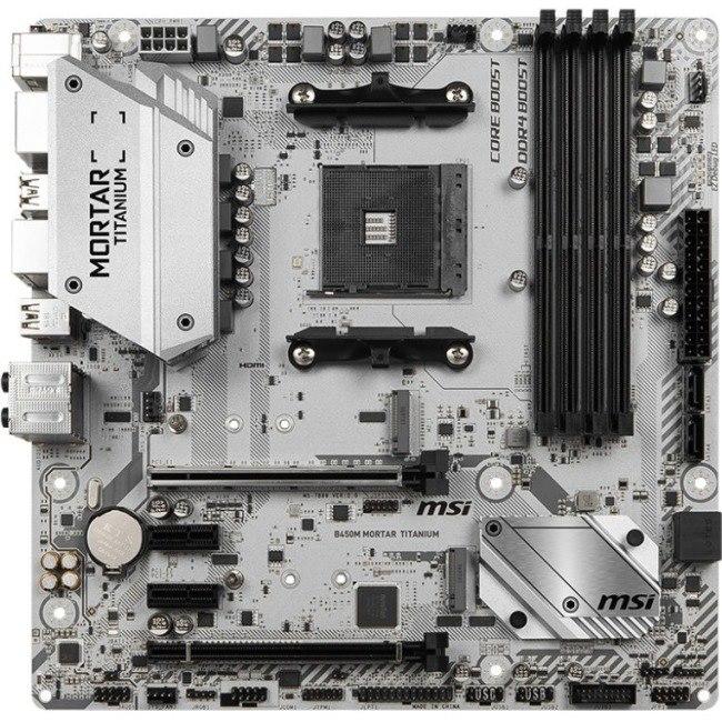 Buy MSI B450M MORTAR TITANIUM Desktop Motherboard - AMD