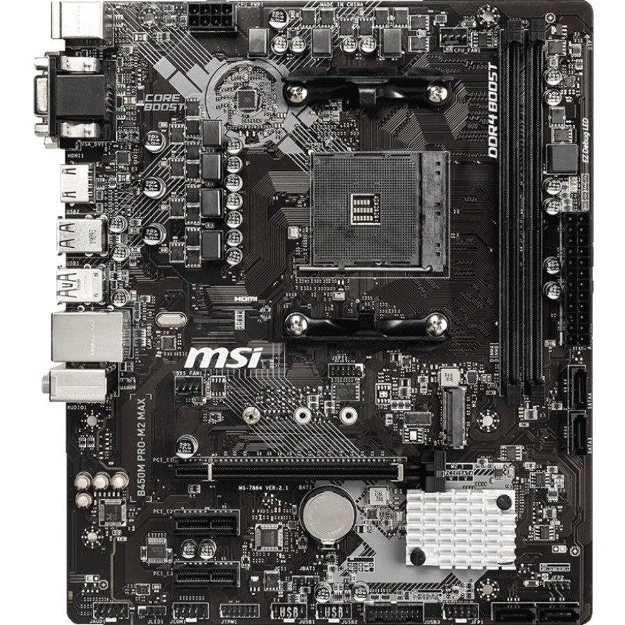 MSI B450M PRO-M2 MAX Desktop Motherboard - AMD Chipset - Socket AM4