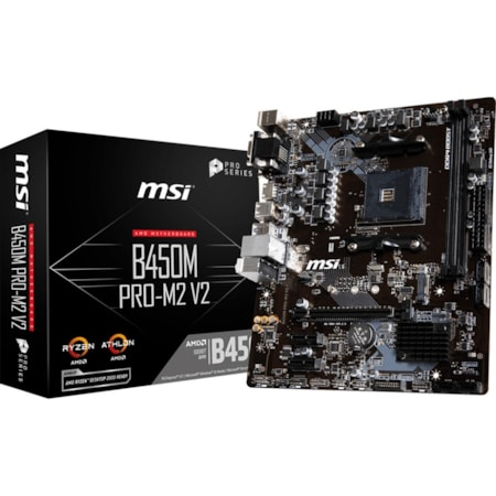 MSI B450M PRO-M2 V2 Desktop Motherboard - AMD Chipset - Socket AM4