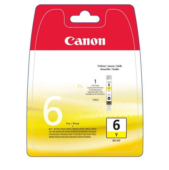 Canon BCI-6Y Original Ink Cartridge - Yellow