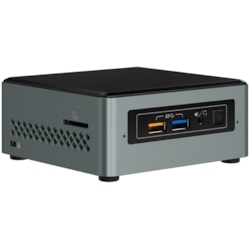 Intel NUC NUC6CAYSAJ Desktop Computer - Intel Celeron J3455 1.50 GHz - 2 GB DDR3L SDRAM - 32 GB Flash Memory Capacity - Windows 10 Home - Mini PC - Black, Grey