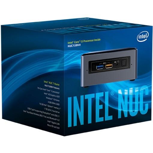 Intel NUC 7 Home NUC7i3BNHXF Desktop Computer - Intel Core i3 (7th Gen) i3-7100U 2.40 GHz - 4 GB DDR4 SDRAM - 1 TB HDD - Windows 10 Home 64-bit - Mini PC