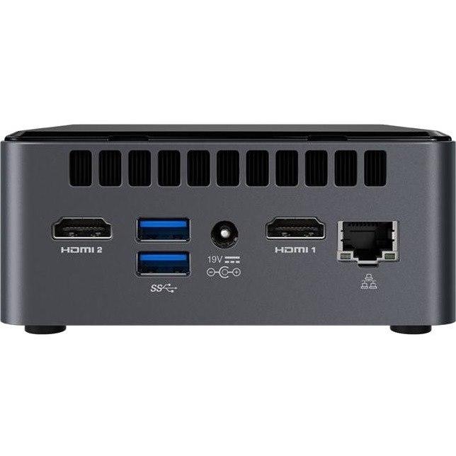 Intel NUC 8 Home NUC8i3CYSN Desktop Computer - Intel Core i3 (8th Gen) i3-8121U 2.20 GHz - 4 GB LPDDR4 - 1 TB HDD - Windows 10 Home 64-bit - Mini PC
