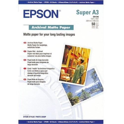 Epson Archival C13S041340 Inkjet Print Photo Paper