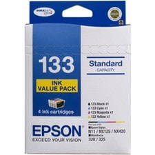 Epson DURABrite Ultra No. 133 Original Ink Cartridge - Black, Cyan, Magenta, Yellow
