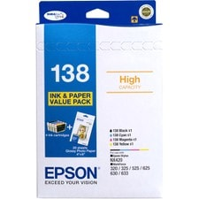 Epson DURABrite Ultra 138 Original Ink Cartridge - Black, Cyan, Magenta, Yellow